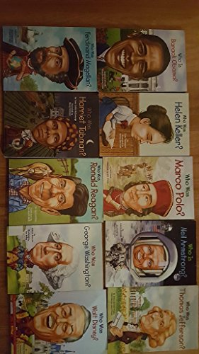 - Who is (Who Was) series collection various ten book set. Harriet Tubman george washington ronald reagan walt disney hellen keller barack obama