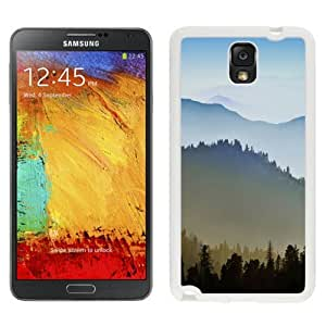 NEW Unique Custom Designed Samsung Galaxy Note 3 N900A N900V N900P N900T Phone Case With Sunrise Over Hills_White Phone Case