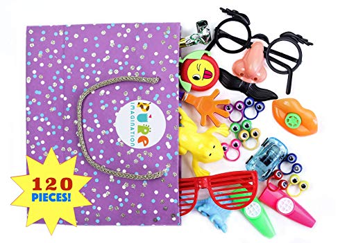 FLASH SALE! 120pc PARTY FAVOR TOY PACK | The BEST Kids' Party Favor Assortment For: Birthday Goodie Bags, Pinata Stuffers, Treasure Chests, Classroom Rewards, Arcade Prizes, Giveaways and More]()