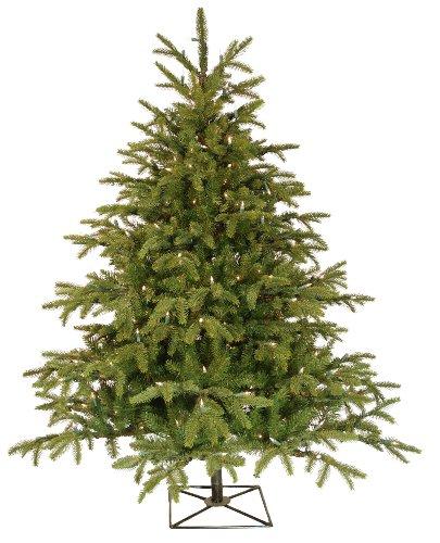 Barcana 4.5-Foot Alaskan Deluxe Fir Christmas Tree with 250 Clear Mini Alaskan Fir Christmas Tree
