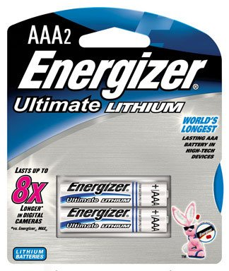 Energizer e_ Lithium Batteries, AAA, 2 Batteries/Pack