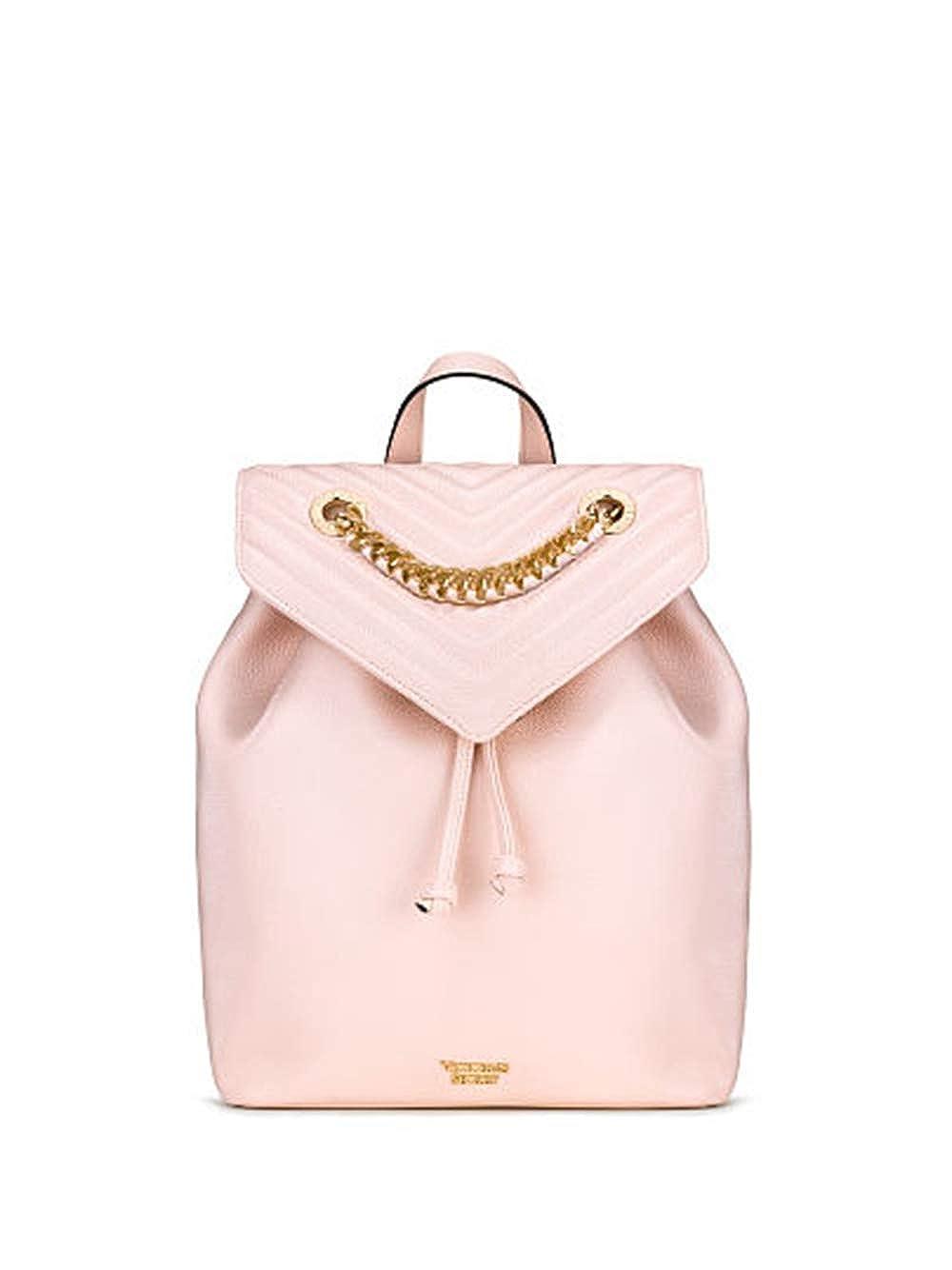(ヴィクトリアシークレット )Victoria's Secret Pebbled V-Quilt Angel レディーズ ファッション バックパック Ladies Fashion Backpack in Light Pink [並行輸入品]   B07GN7FH6D