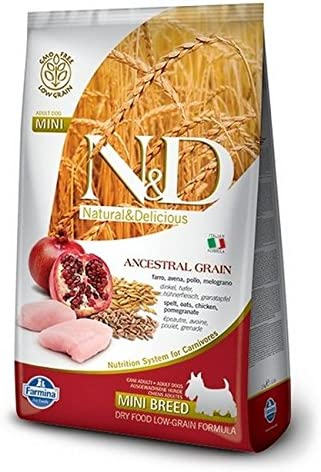 Farmina Natural And Delicious Chicken And Ancestral Low-Grain Formula Small Bites Dry Dog Food