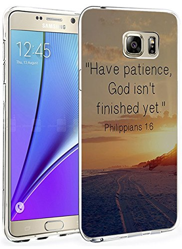 Price comparison product image Samsung Galaxy Note 5 Cases and Covers Snap on Protective Have Patience God isn't Finished Yet Philippians 1:6