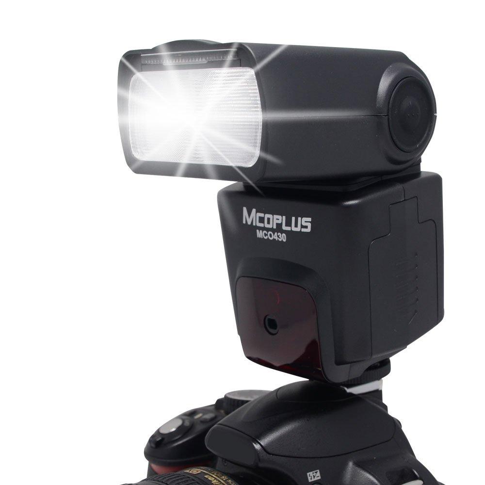 Mcoplus MCO-430 E-TTL Auto-Focus AF Flash Speedlite for Canon DSLR 5D 7D Mark II III 6D 40D 50D 60D 70D 450D 500D 550D 600D 700D Cameras including Rebel EOS T5i T4i T3i T2i T1i by Mcoplus