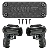 Magnetic Gun Mount & Car Holster - Rubber Coated 35 Lbs Rated - Firearm Accessory. Safe Storage and Quick Access to Firearm. Concealed Holder For Handgun, Rifle, Shotgun, Car, kitchen, Vault, Desk...