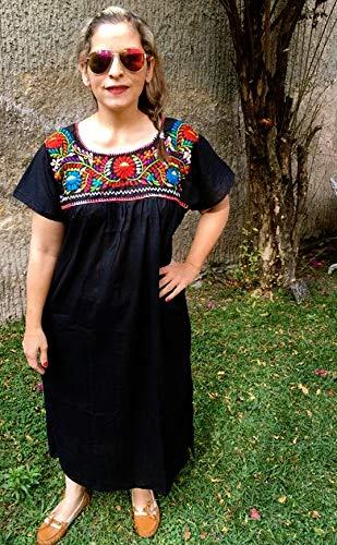 Amazon.com: Mexican Dress Plus Size Black for Women: Handmade