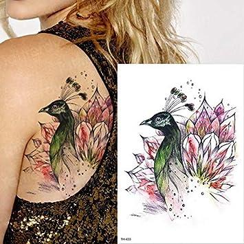 HXMAN Tatuaje Temporal Sexy Mujer Falsa Tatuaje Tragar Pájaro Flor ...