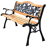 Hardwood Garden Furniture Patio Park Garden Bench Porch Path Chair Furniture Cast Iron Hardwood New