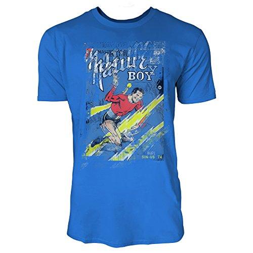 SINUS ART® Nature Boy Herren T-Shirts stilvolles royal blaues Fun Shirt mit tollen Aufdruck