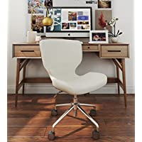 ELLE Décor Madeline Hourglass Task Chair in French Cream
