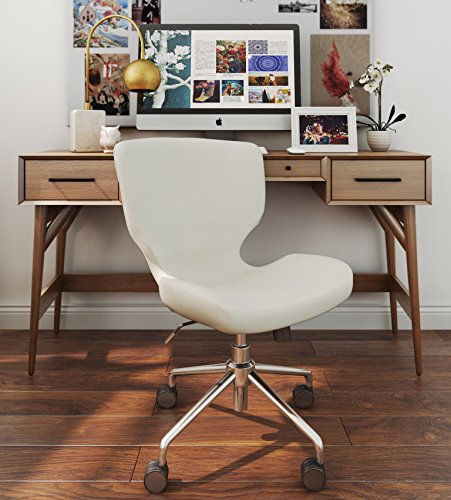 - ELLE Décor Madeline Hourglass Task Chair in French Cream