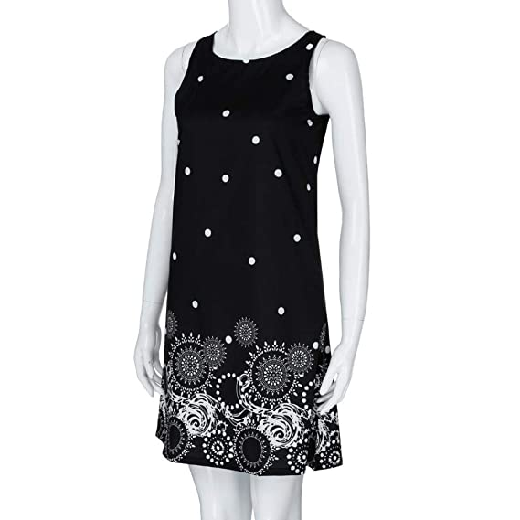 Amazon.com: NREALY Falda Womens Summer Solid Chiffon Sleeveless Evening Party Vest Dresses: Clothing