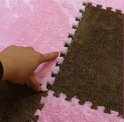con franela de lana 10 piezas Alfombra de espuma EVA reversible Yino multicolor alfombrillas y bordes de terciopelo gruesos