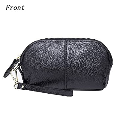 Womens Small Leather Wristlet Purse, Shell-Shaped Cell Phone Wallet Iphone 7 Plus 6S Galaxy S7 Note 5