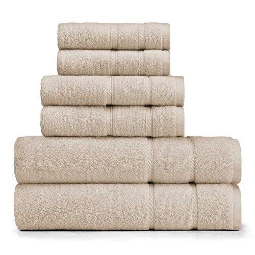 Nautica Bath Cotton Towel - Nautica Belle Haven Towel Set, 54 x 30, Beige