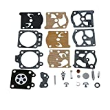 QAZAKY Carburetor Diaphragm Gasket Rebuild Repair Kit for Walbro K20-WAT WA WT Carb ECHO McCulloch Homelite Husqvarna Jonsered Stihl