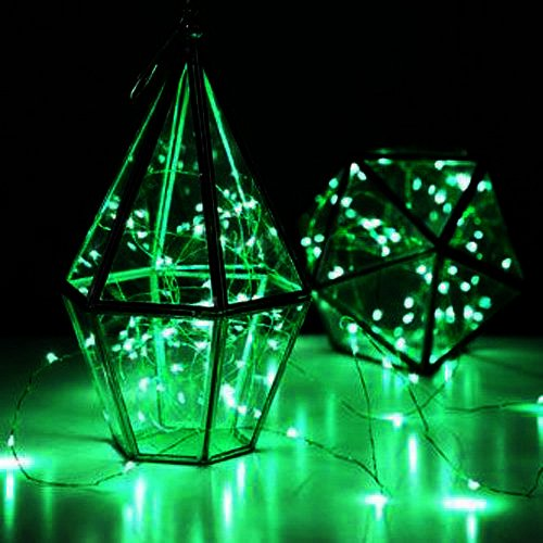 Led Sopotek 7ft 20 Leds Green Starry Lights Fairy Lights Silver Led Lights Strings Aa Battery