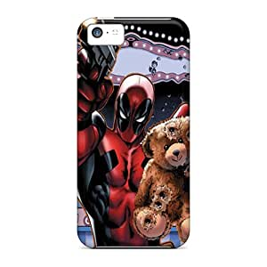 HugeOfficial FtD13572gZLK Case Cover Iphone 5c Protective Case Deadpool Saving Teddy Bear