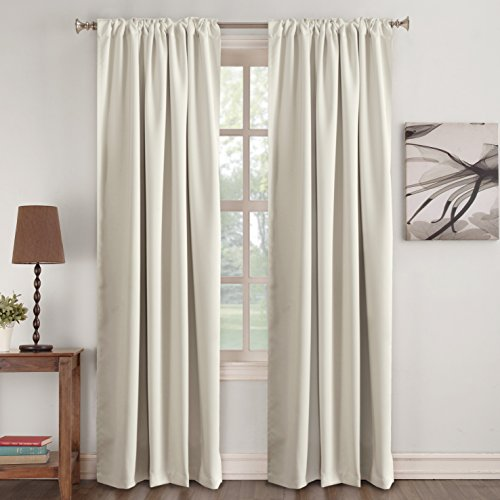 Pair Polyester Curtains - Turquoize Window Treatments Drapes Room Darkening Curtain Panels Back Tab/Rod Pocket Curtain Panels for Living Room Thermal Insulated Noise Reducing Window Curtain 52