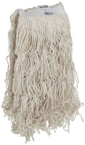 Rubbermaid Commercial Dura Pro Premium Cut-End Mop, Cotton, White, FGV11900WH00 (Mop Rubbermaid Head Premium)