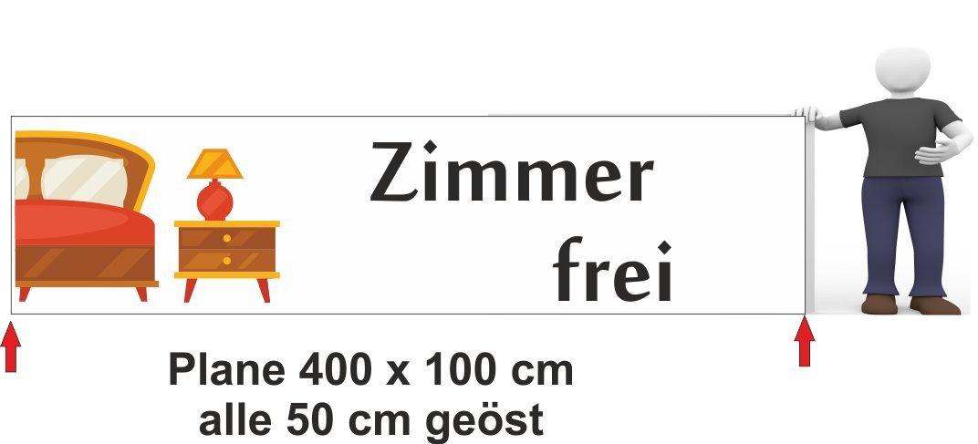 Werbebanner Zimmer frei 400 x 100 cm