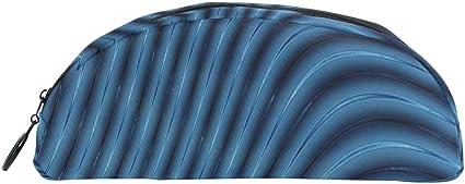 Divertido estuche de lápices abstracto 3d líneas azules licuadora ...