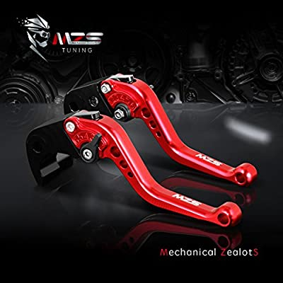 MZS Short Levers Brake Clutch CNC Compatible with Suzuki GSXR600 GSXR 600 GN7CA 2004-2005| GSXR750 GSXR 750 GR7JA 2004-2005 Red: Automotive