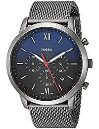 Fossil Men's 'Neutra Chrono' Quartz Stainless Steel Casual Watch, Color:Grey (Model: FS5383)