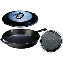 Lodge Seasoned Cast Iron Boy Scouts of America Skillet + Cast Iron Lid Set - 12 Inch Collectible Iconic Frying Pan