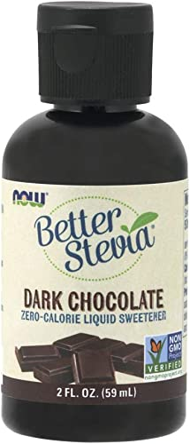 NOW Foods Better Stevia Liquid Sweetener Dark Chocolate – 2 fl oz