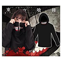 Smoon Cosplay Tokyo Ghoul Ken Kaneki Cool Casual Long-Sleeved Shirt Hoodie Costume