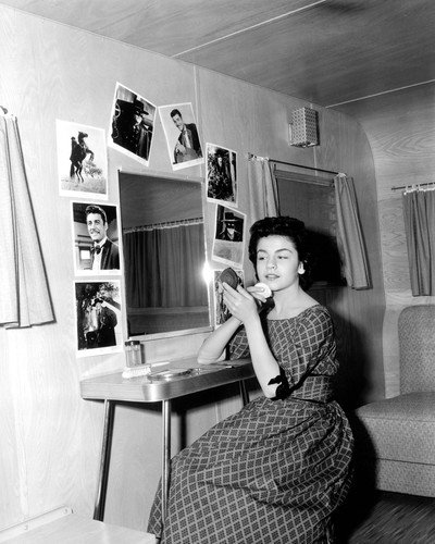 Annette Funicello 8x10 Promotional Photograph rare candid in her dressing room 1960's Guy Williams as Zorro photos on - Mirror Guy Pictures