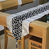 Retro leopard silver table flag,Sleek-A 33x200cm(13x79inch)