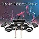 FidgetFidget Compact Size USB Roll-Up Silicon Drum Set Digital Electronic Drum Kit 7 U3N6