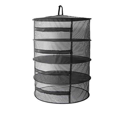 Cheap Elaiko garden Herb drying net rack 4 Layer Black/Green/White Mesh Hanging Herb Drying Rack Dry Net (Black)