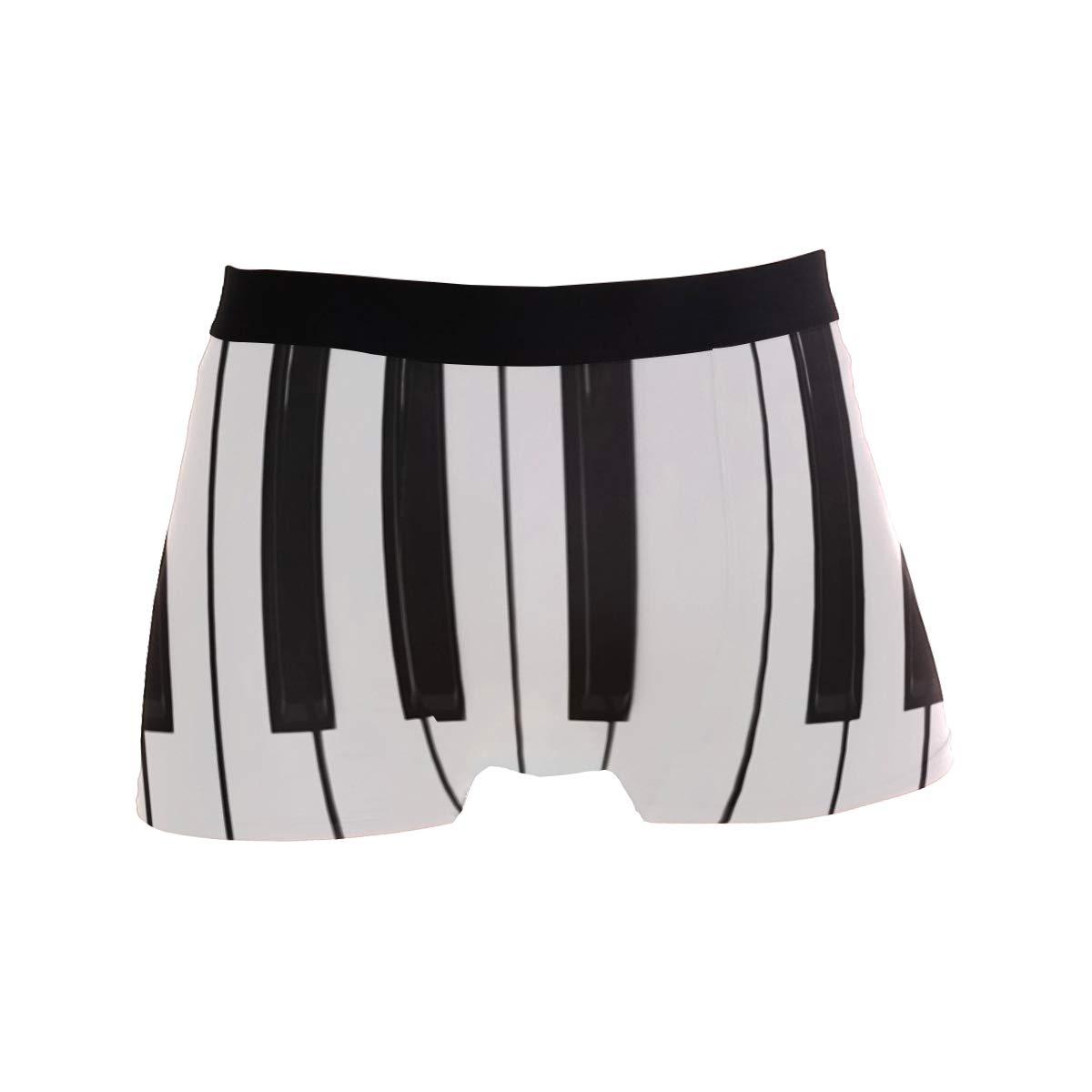 Chinein Breathable Boxer Brief Underwear Mens Boys Piano Keys