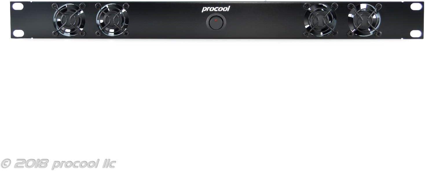 PROCOOL TV440E 1U Rack Mount Exhaust Fan with high airflow for IT Servers DJ/'s