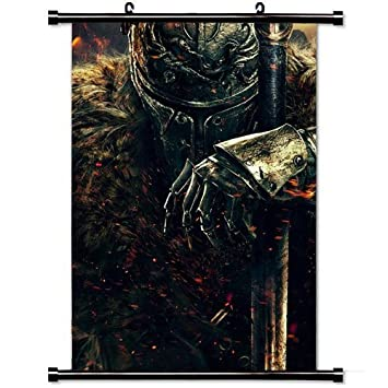 Wall Posters Wall Scroll Poster With Dark Souls Ii Dark Souls Warrior Knight From Software Namco Bandai Games Home Decor Fabric Painting 23 6 X 35 4