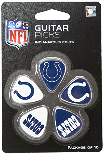 Indianapolis Colts Decor (NFL Indianapolis Colts Guitar Pick (10-Pack), 1-Inch x 1-3/16-Inch, Blue)