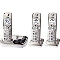 Panasonic Dect 6.0 PLUS Expandable Digital Cordless Phone System with Talking Caller ID and Digital Answering System - 3 Handset Pack