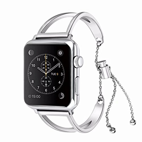 42mm Apple Watch band, Urberry Hollow out of aluminum alloy Bracelet Pendant Band for Apple Watch Series 2, Series 1,...