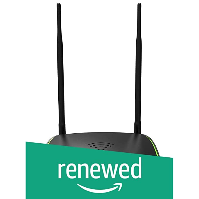 Renewed  Tenda D1201 Ac1200 ADSL2+ Dual Band Wireless Modem Router  Black  Networking Devices