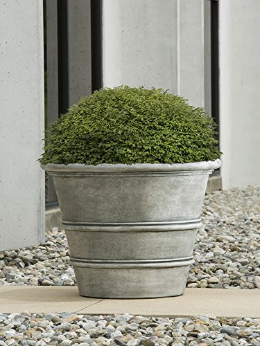Classic Rolled Rim GFRC Planter - 35.5'' by Campania International