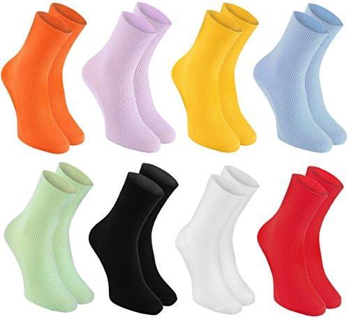 Rainbow Socks - Damen Herren Baumwolle Diabetiker Socken Ohne Gummibund - 8 Paar