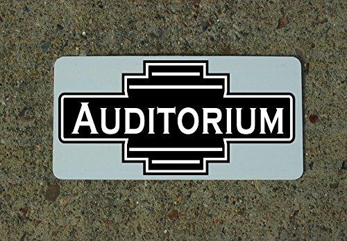 (AUDITORIUM Vintage Retro Art Deco Style Metal Sign)