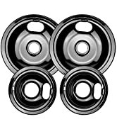 W10290350 and W10290353 Porcelain Burner Drip Pan Bowls Replacement By AMI PARTS Fits Whirlpool E...