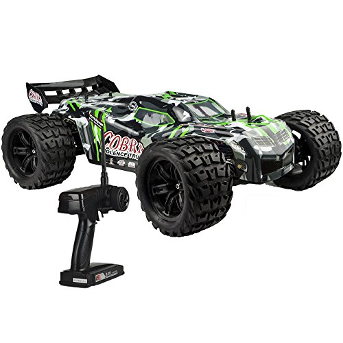 Electric Truggy Rc - FullfunRC Electric Brushless Cobra EBL RC Truck with 2.4GHz Radio,8.4V Vehicle Battery and Charger Included (1/8 Scale)