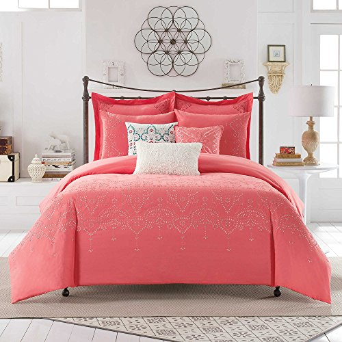 Anthology Scarlet Bed Set, King in Coral (Scarlet Coral)
