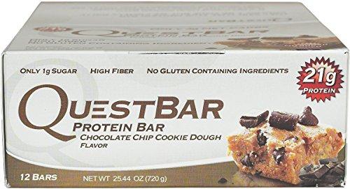 Quest питание - QUEST BAR шоколадное печенье тесто, 12 баров